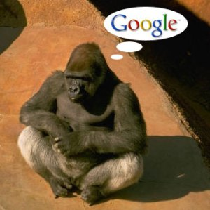 gorilla with google thought bubble