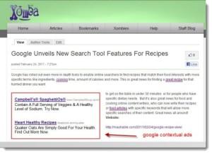 google contextual ad unit xomba