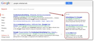 google contextual ads on search