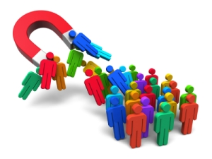 attracting web traffic concept