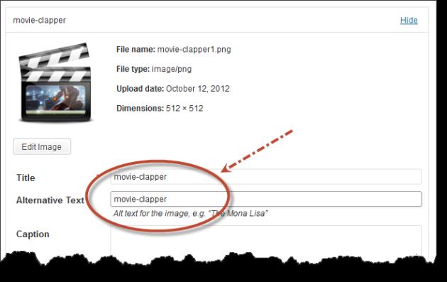 Wordpress image menu